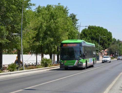 La línea 471 «Humanes-Fuenlabrada-Parla-Pinto» modifica los horarios de lunes a viernes durante agosto.