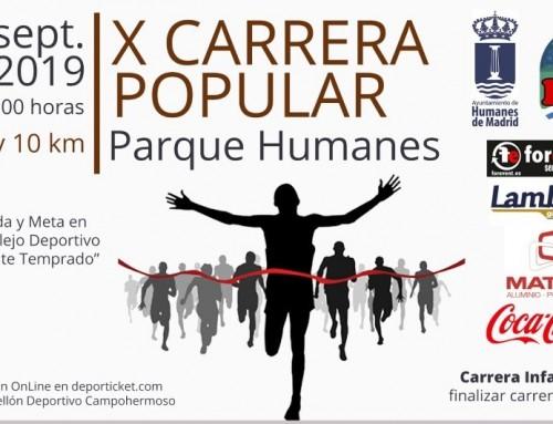 El viernes 6 de septiembre finaliza el plazo para participar en la X Carrera Popular Parque Humanes.