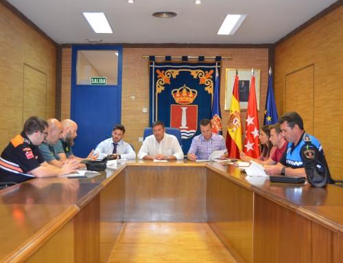 Reunión para coordinar y garantizar la seguridad de las fiestas de septiembre.