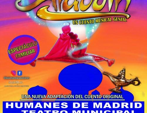 «Aladdín», un cuento musical genial en el teatro municipal Ana Diosdado.