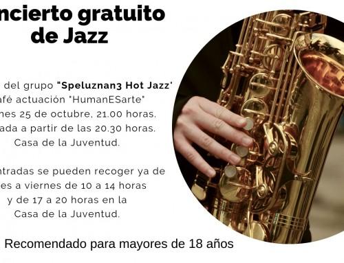 Comienza la temporada del café-actuación «HumanESarte» con un concierto gratuito ofrecido por «Speluznan3 Hot Jazz».