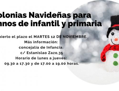 La concejalía de Infancia ofrece durante los días no lectivos «Colonias Navideñas» para alumnos de infantil y primaria.