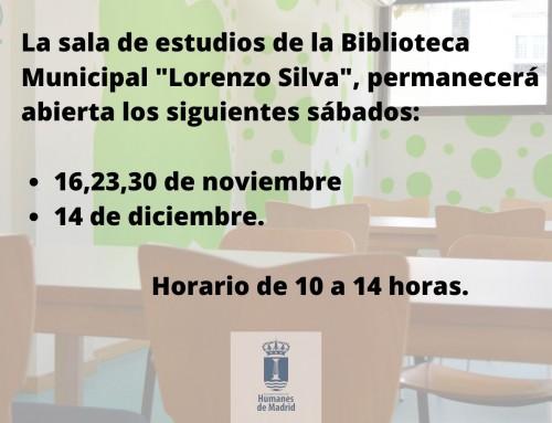 La biblioteca Municipal «Lorenzo Silva» habilita una sala de estudios durante los exámenes.