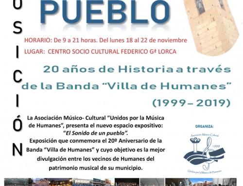 La banda «Villa de Humanes» cumple 20 años con una exposición en el CSC Federico García Lorca.