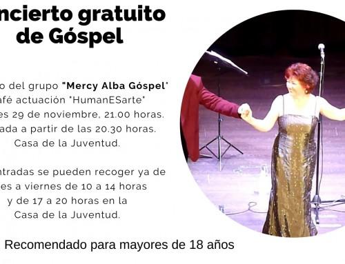 Juventud te invita a un concierto de Góspel gratuito que forma parte de la programación «HumanESarte».