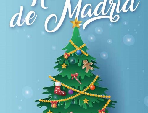Comienzan las fiestas en Humanes de Madrid con el alumbrado navideño.