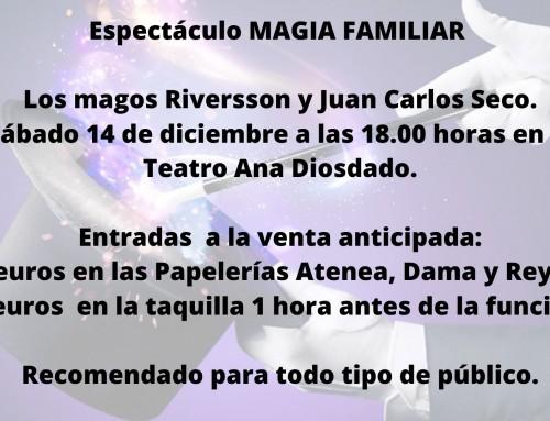 Los magos Riversson y Juan Carlos Seco presentan el espectáculo IlusionA2 cargado de magia para todos los públicos.