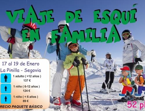 La concejalía de Infancia organiza una excursión familiar en la estación segoviana de esquí la Pinilla.