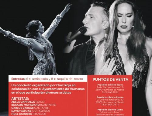 Rosario Mohedano, Carlos Vargas y la bailaora Adela Campallo colaboran en la gala a beneficio de Cruz Roja.