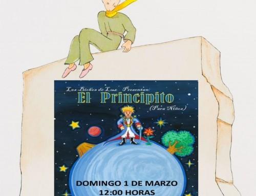 La compañía Los bichos de luz interpreta «El principito», el domingo a las 12.00 horas.