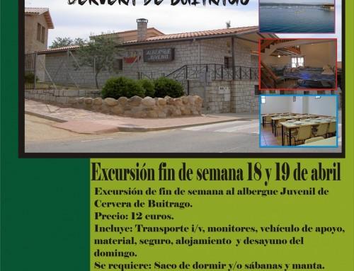 Juventud organiza un fin de semana para  jóvenes entre 12 y 17 años a Cervera de Buitrago.
