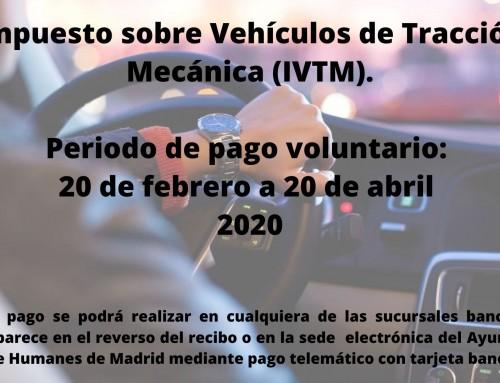 Comienza el plazo para el pago del impuesto sobre Vehículos de Tracción Mecánica.