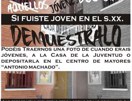 Juventud solicita para una exposición, fotos  de jóvenes del siglo XX, de Humanes de Madrid.