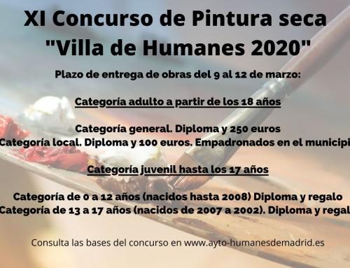 Cultura convoca el XI concurso de Pintura Seca «Villa de Humanes 2020».