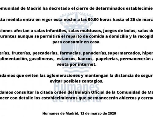 La Comunidad de Madrid pone en marcha una serie de medidas para frenar la propagación del coronavirus.