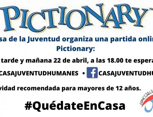 La Casa de la Juventud organiza una partida de Pictionary online.