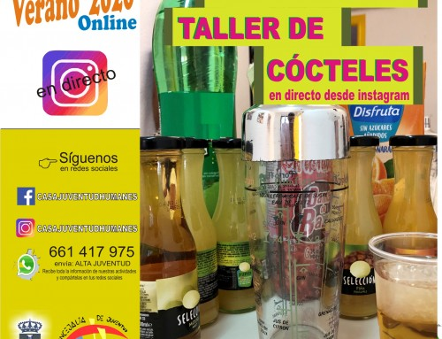 Taller de cócteles en directo desde Instagram de Casa Juventud Humanes