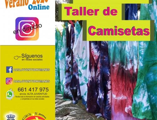 Taller de camisetas online para los jóvenes de Humanes de Madrid.