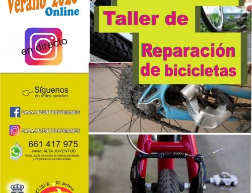 Taller online gratuito de reparación de biclicletas.