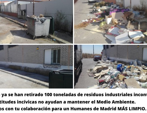 Este año se han retirado 100 toneladas de residuos industriales incontrolados.