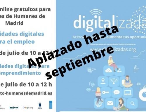 Cursos online gratuitos aplazados hasta septiembre