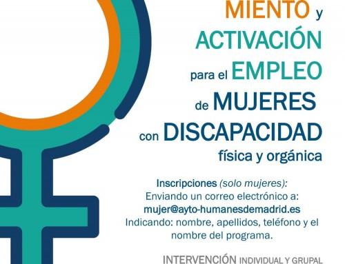 Curso gratuito online de empoderamiento y activación para el empleo dirigido a mujeres con discapacidad física y orgánica.