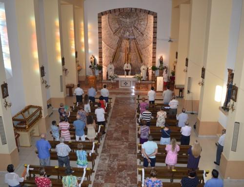 Celebrada la misa en honor al patrón de Humanes de Madrid Santo Domingo de Guzmán.