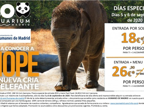 Descuentos especiales en el ZOO Aquarium para los vecinos de Humanes de Madrid.