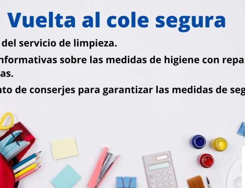 El Ayuntamiento de Humanes de Madrid pone en marcha la campaña «Vuelta al cole de forma segura»