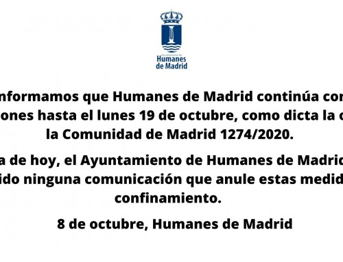Humanes de Madrid continúa confinada