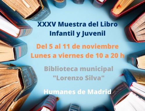 La XXXV Muestra del libro infantil y juvenil itinerante llega a Humanes de Madrid con 220 títulos.