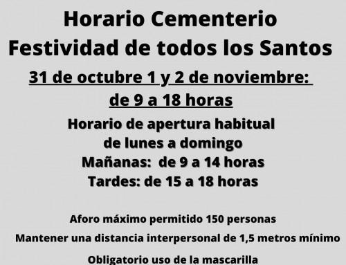 Para evitar aglomeraciones en el Cementerio, el 31 de octubre también abrirá de 9 a 18 horas.