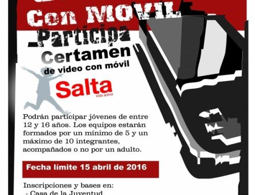 """Abierto el plazo para participar en el """"Concurso de vídeo con móvil Salta Humanes de Madrid"""""""