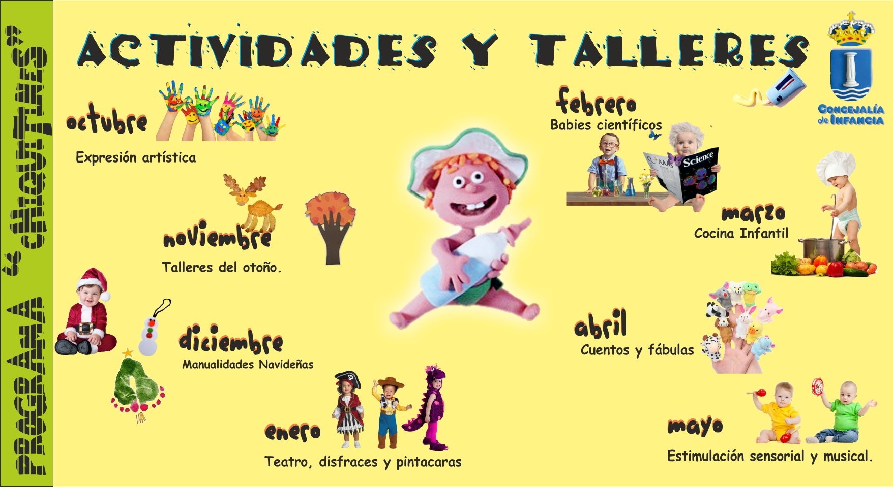 Arranca El Programa Chiquitines Actividades Para Ni Os Menores  ~ Cursos De Manualidades En Madrid