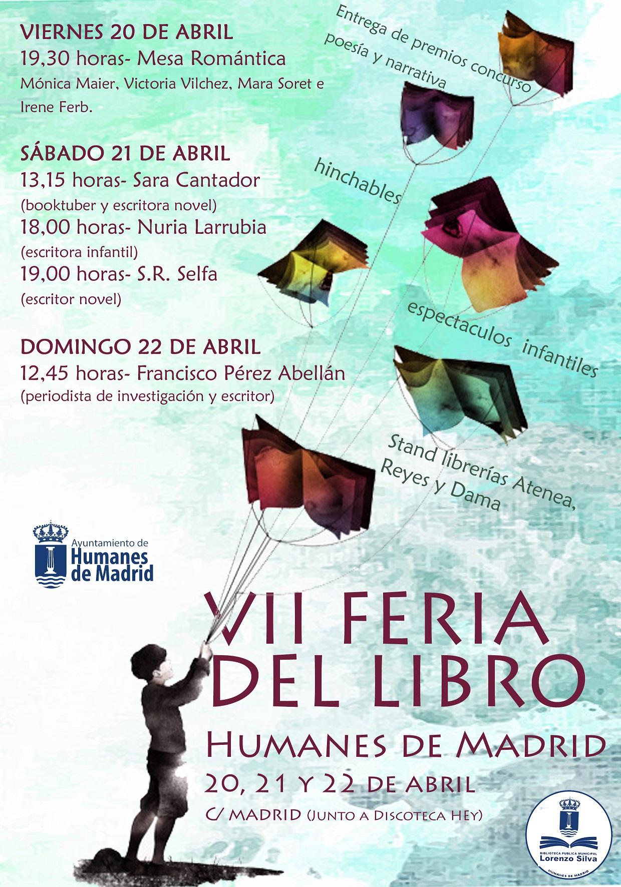 """Durante los días 20, 21 y 22 de abril, VII Feria del Libro """"Humanes de Madrid"""""""