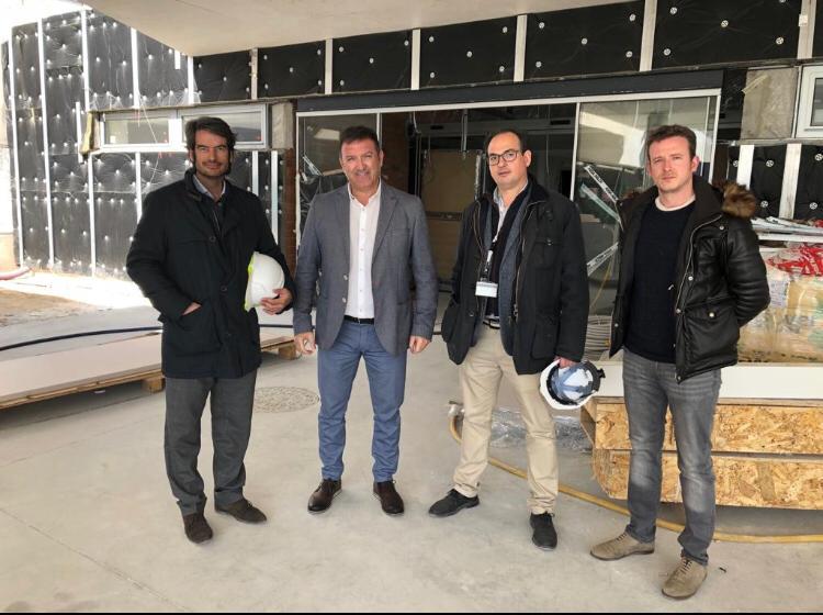 José Antonio Sánchez visita las obras de ampliación de las Urgencias del Hospital Universitario de Fuenlabrada
