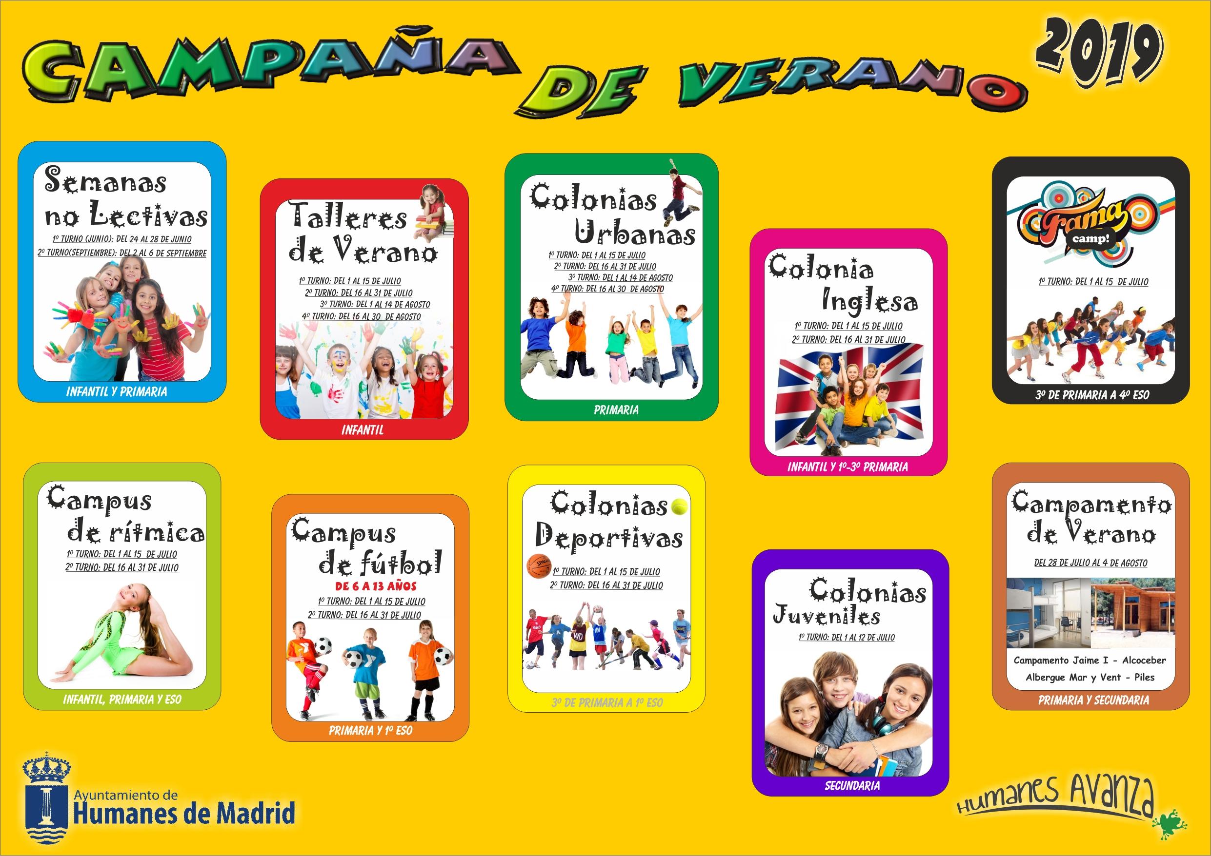 La Concejalía de Infancia abre el plazo extraordinario para inscribirse en las actividades de la Campaña de Verano 2019