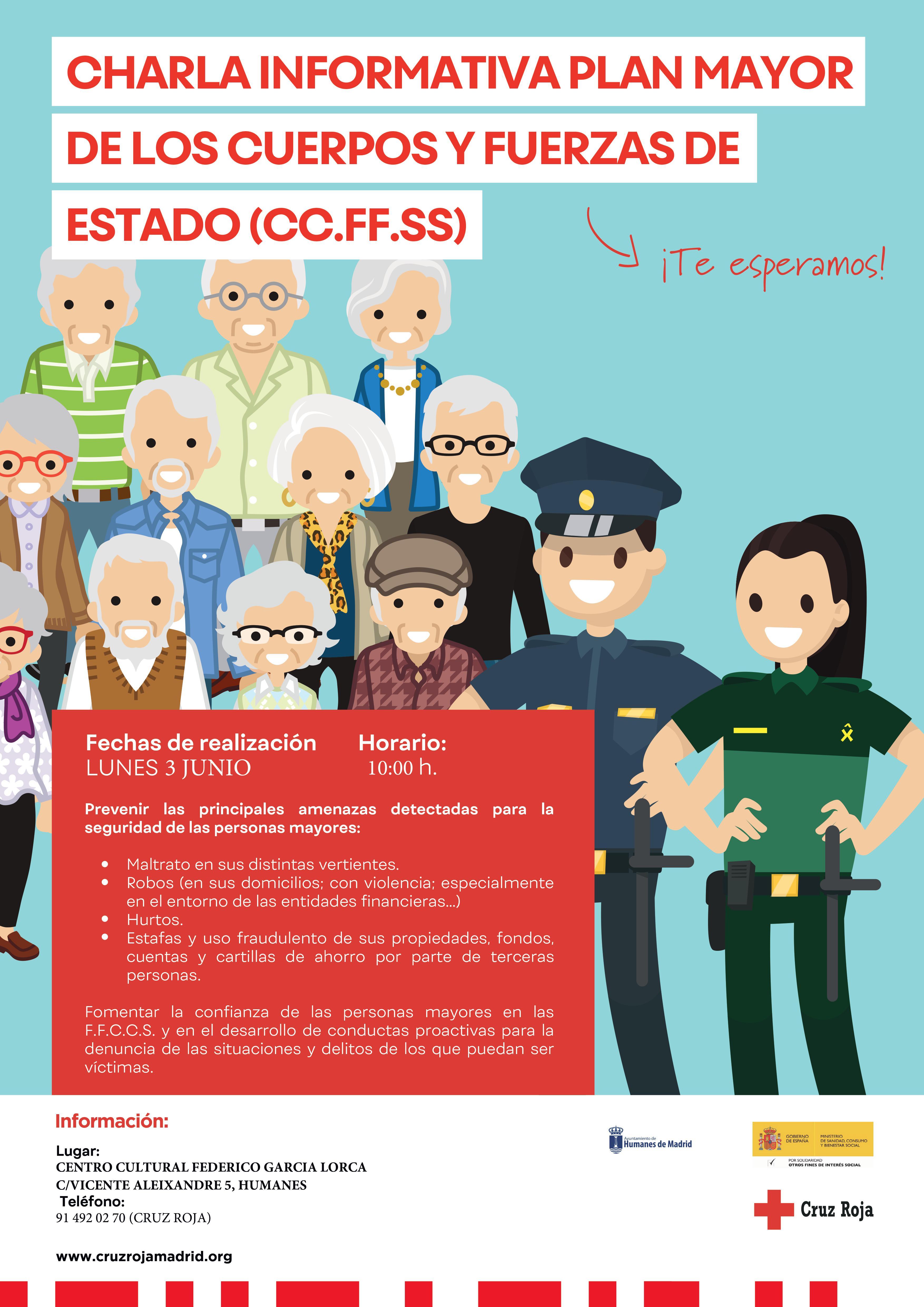3 y 6 de junio, charlas informativas sobre la seguridad de las personas mayores