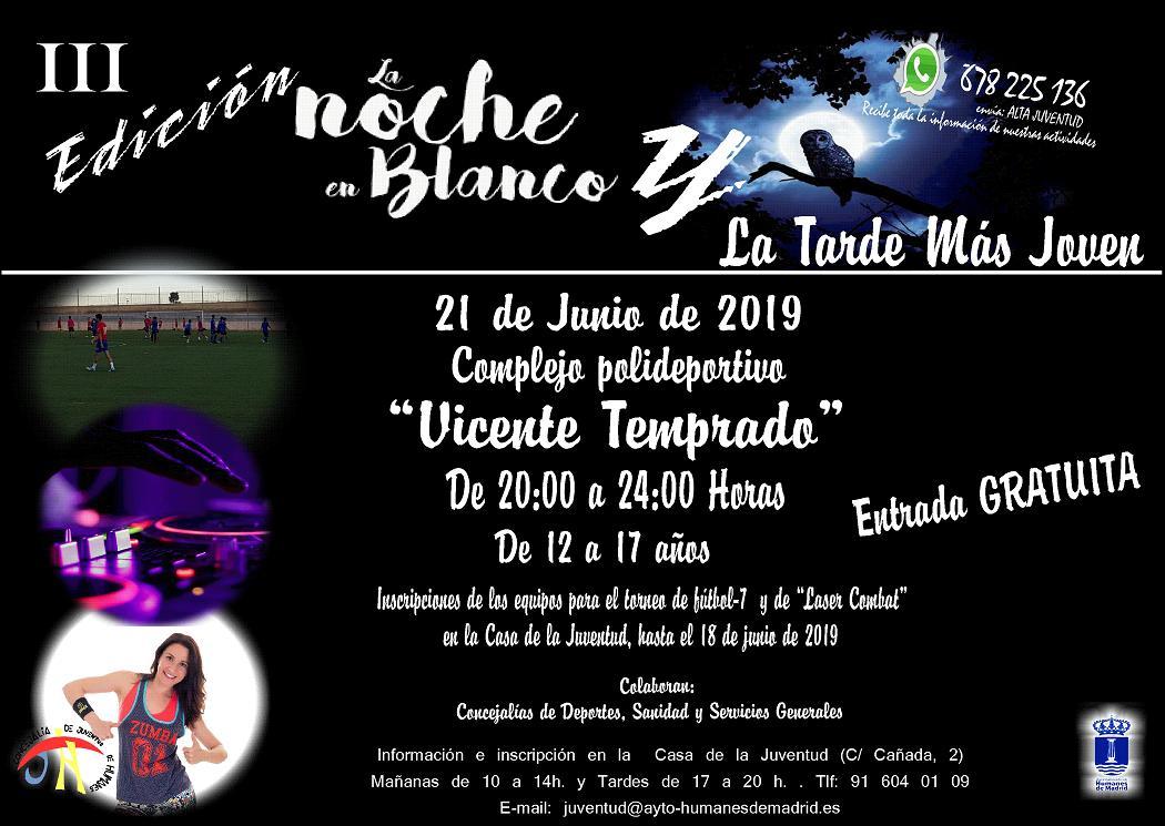 21 de junio, tercera edición de «La noche en blanco» y «La tarde más joven»