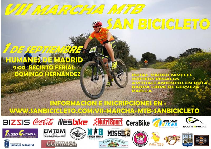 A partir del 1 de julio, se abre el plazo de inscripción para participar en la VII Marcha MTB Cicloturista San Bicicleto.