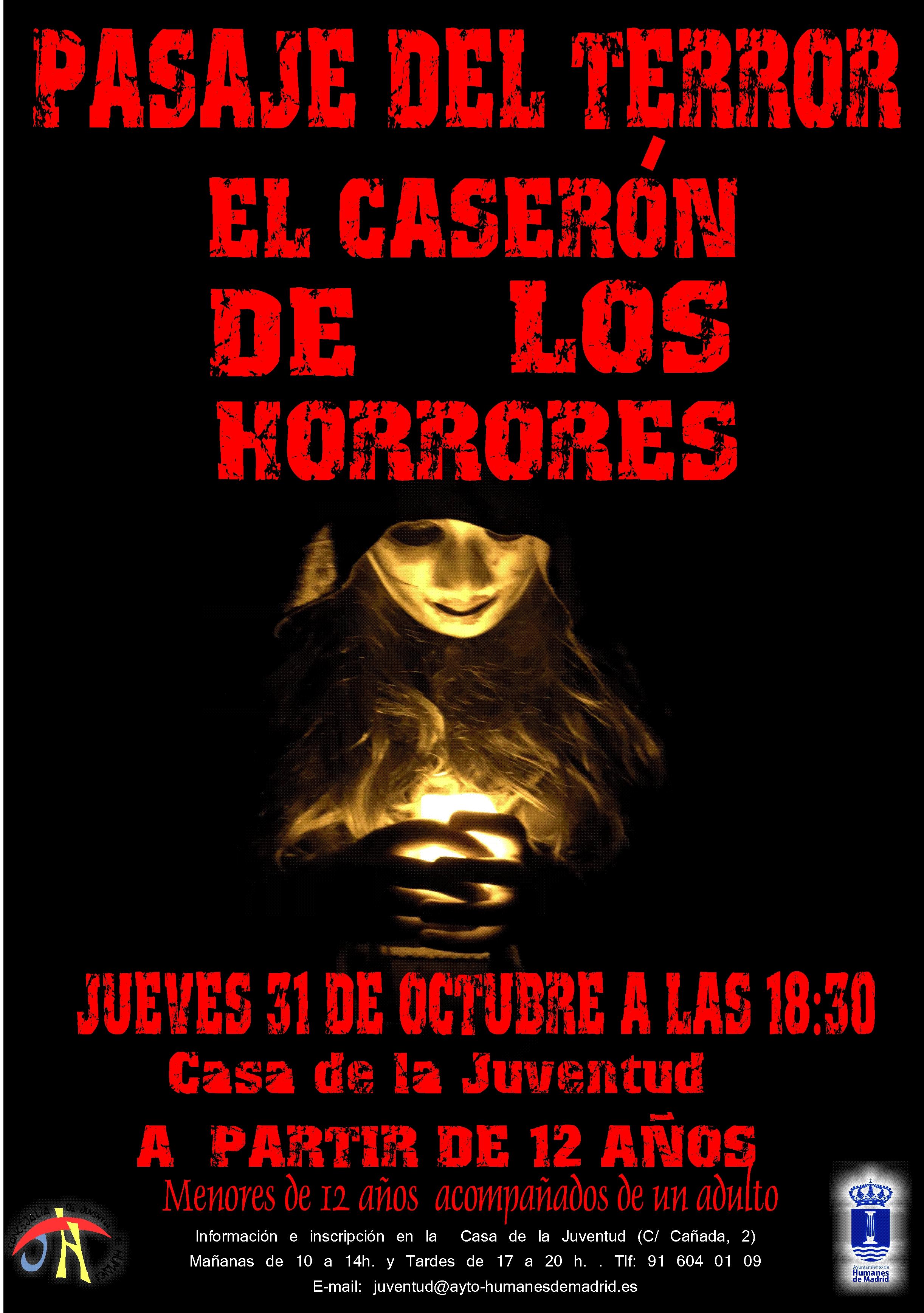 15 figurantes de Humanes de Madrid participan en el Pasaje del Terror: «El Caserón de los Horrores».