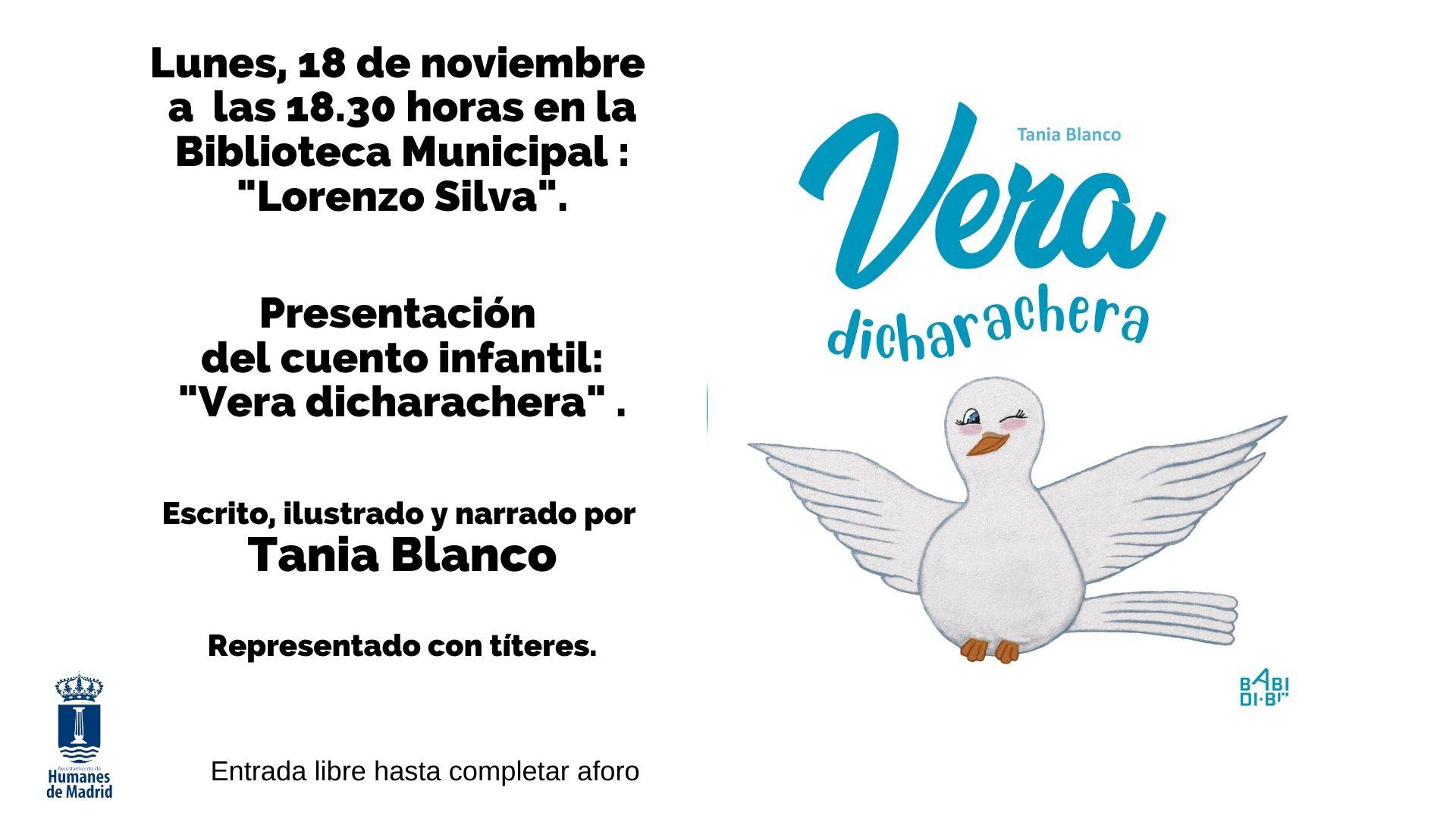Tania Blanco vecina de Humanes de Madrid, presenta su primer cuento «Vera dicharachera».