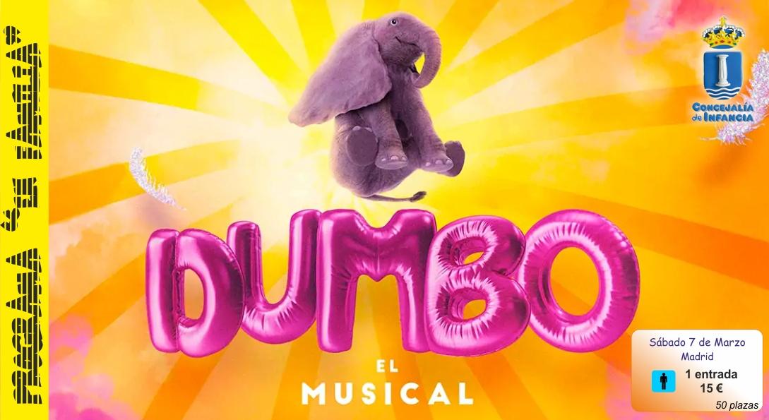 Infancia organiza una salida cultural para ver el musical «Dumbo» en el teatro Nuevo Apolo.