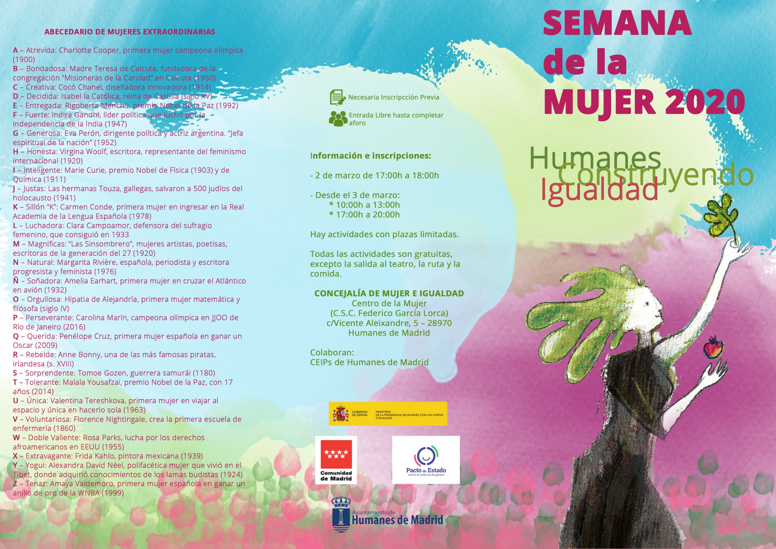 Comienza la Semana de la Mujer 2020 con talleres, actividades culturales, deportivas y musicales.