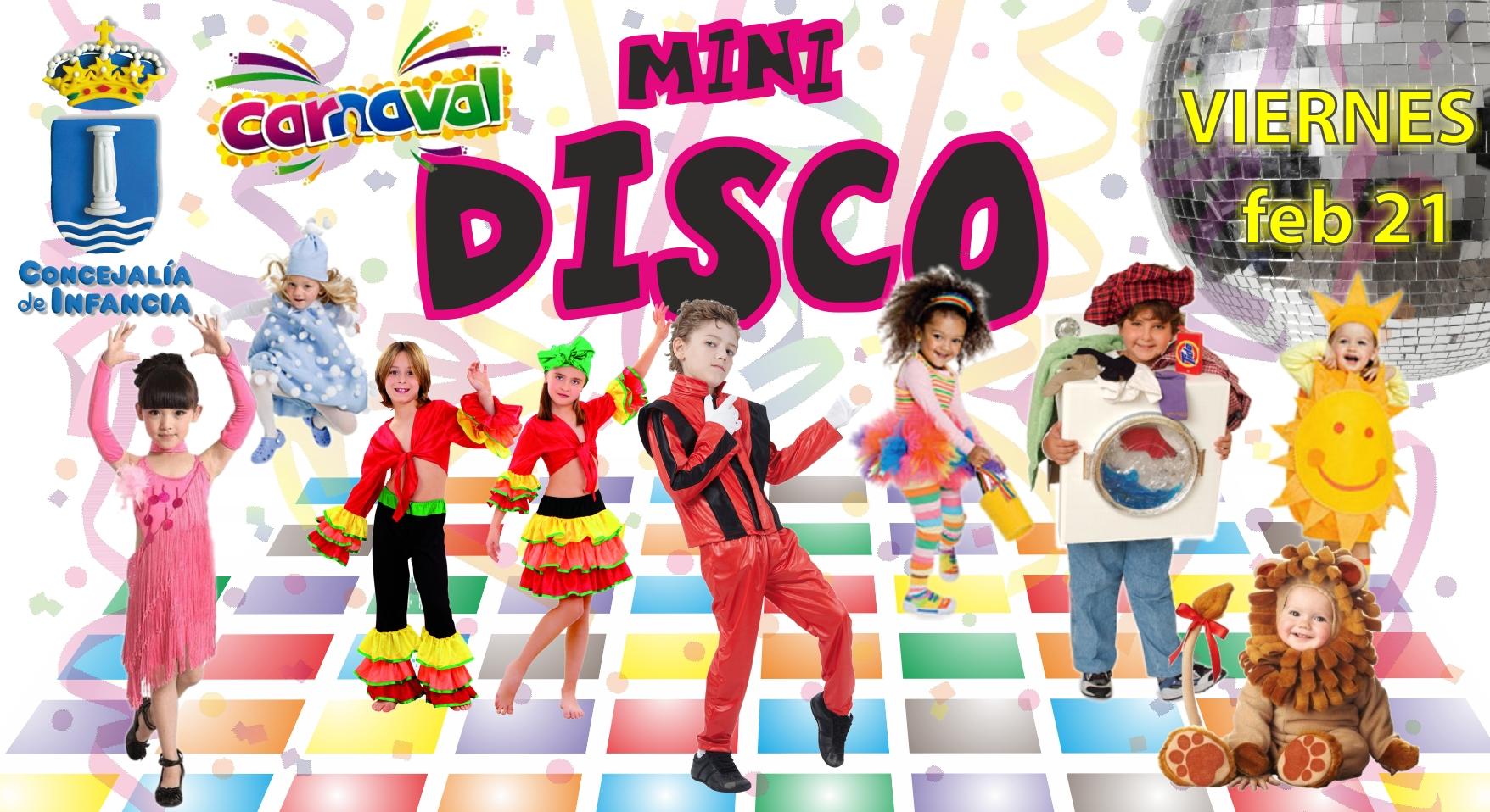 Infancia organiza una mini-disco «Carnaval» y  concurso de disfraces, para menores de 9 años.
