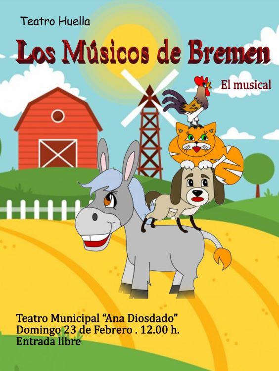Comienza el IX certamen de teatro infantil «Villa de Humanes» 2020 con la obra musical «Los músicos de Bremen».