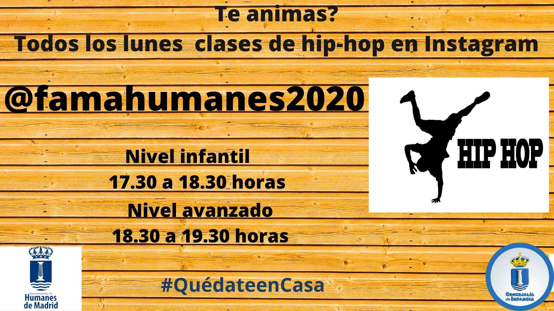 Infancia te propone todos los lunes clases de hip-hop en su canal de Instagram: @famahumanes2020