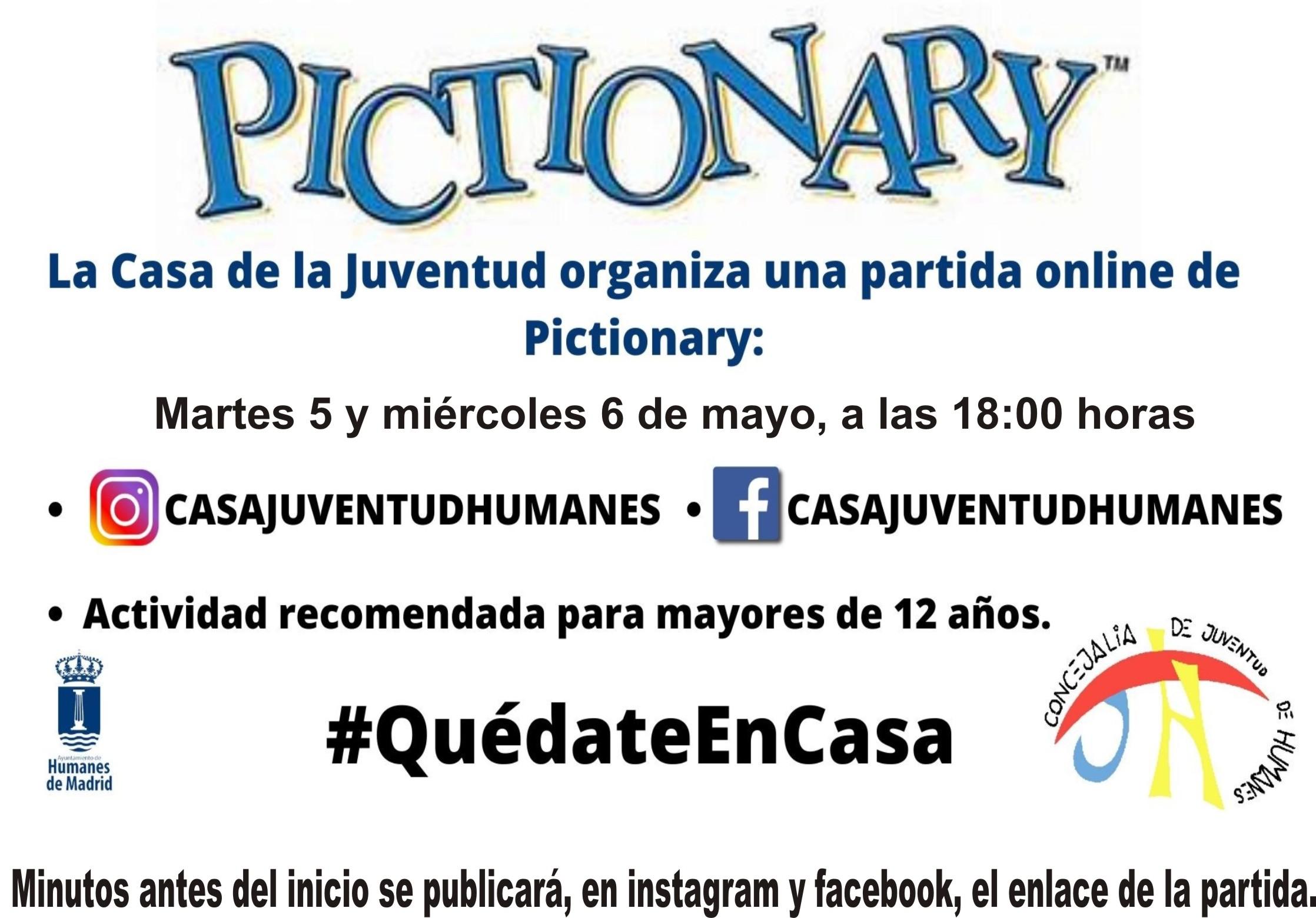 La Concejalía de Juventud te invita a una partida online de Pictionary