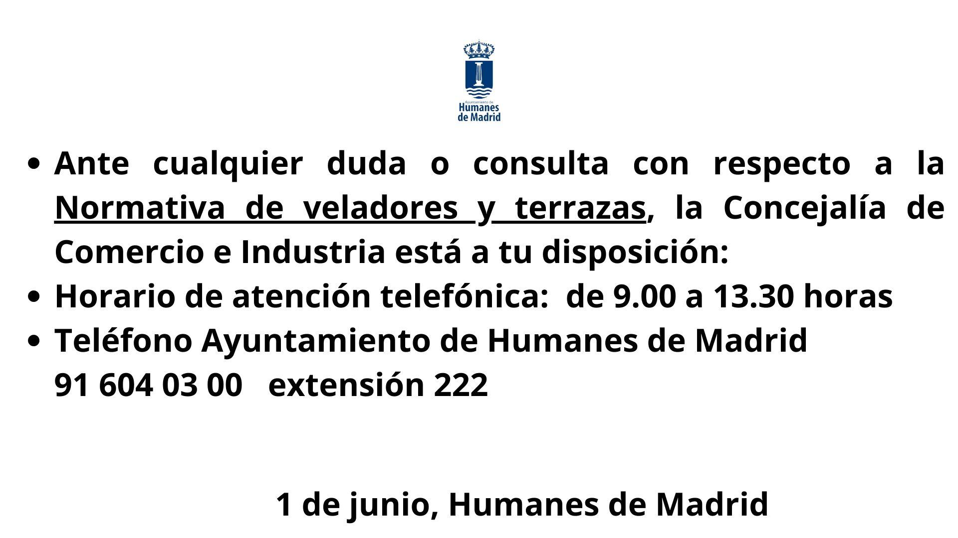 Concejalía de Comercio e Industria.