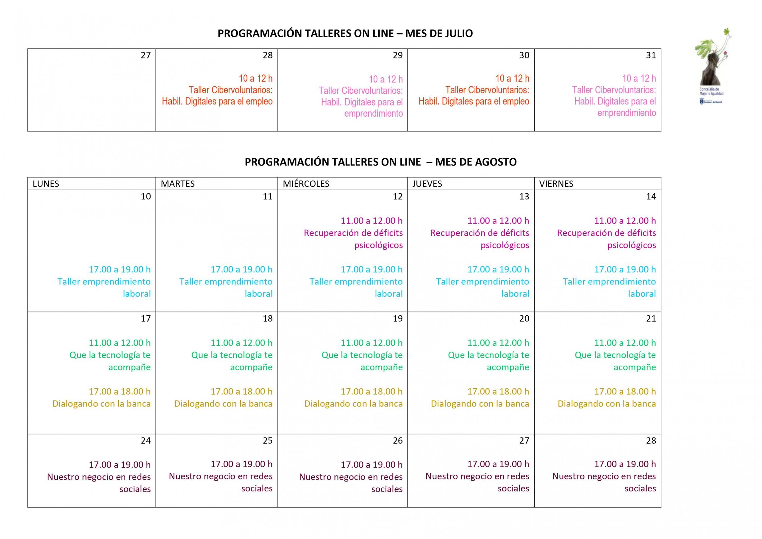 La Concejalía de Mujer e Igualdad te ofrece estos cursos online gratuitos que serán impartidos en julio y agosto.